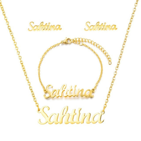 Personalized Name Necklace Set