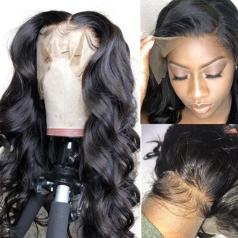 Pre Plucked With Baby Hair Peruvian Human Hair Wigs