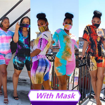 Hot Girl Matching Set With Mask