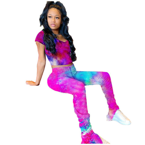 Tye Dye Stacked Leggings