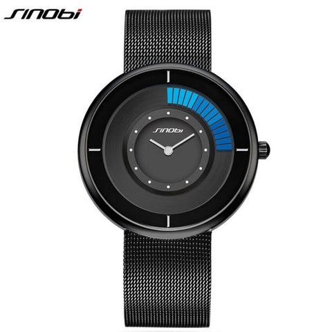 Sinobi Fashion Unique Rotating Luxury Ultra-Thin Steel Men's Watch
