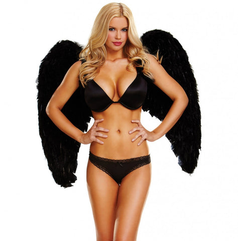"Medium Feather Wings- Wingspan 34"" - Pole Beauties and Beasts"