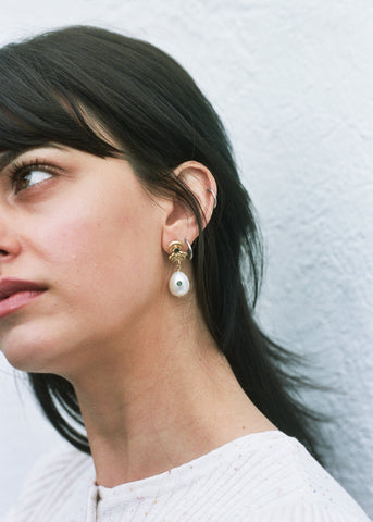 Underground Sundae Gold Oculus Earrings