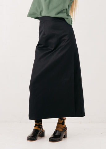 Fortuna Wrap Skirt in Midnight