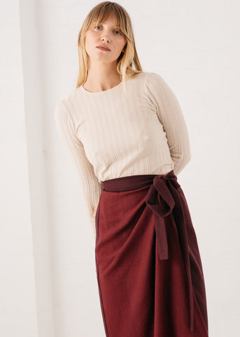 Duet Wrap Skirt in Plum & Sangria
