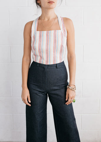 Pini Wrap Top in Multicoloured Stripe