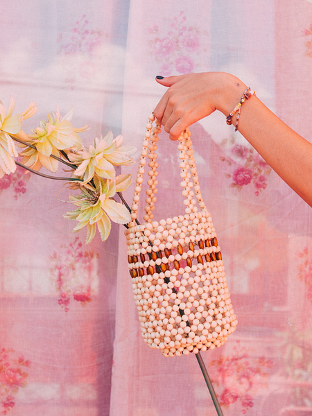 Abaca Rosario Wood Bag