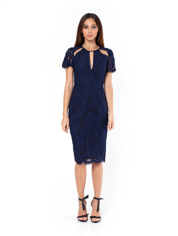 Lacewood Cutout Dress