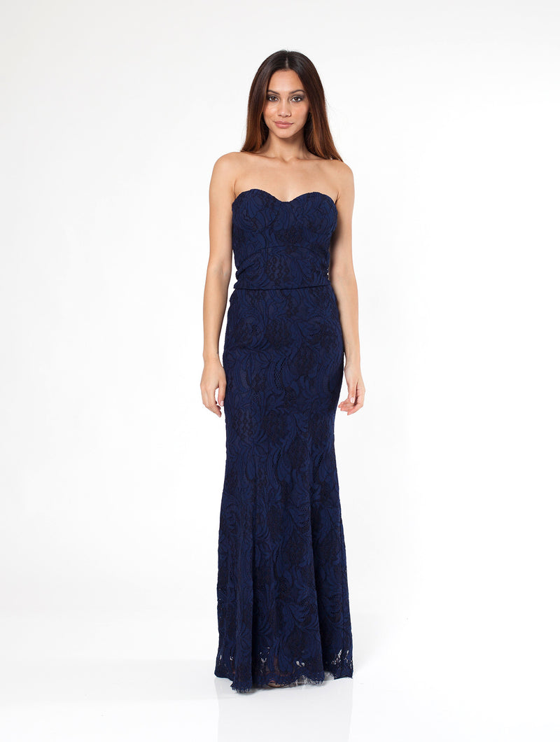 Lacewood Strapless Dress