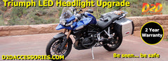 D2D Triumph LED Headlight Replacement