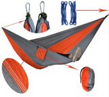 Double Camping Hammock, Portable Parachute Nylon Hammock with Tree Straps