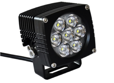 "D2D Cree 3.2"" 35W LED & HEX ezCAN Accessory Manager for the BMW R1200GS LC"