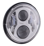 "D2D 50W LED 7"" replacement Headlight Insert With Halo"
