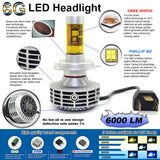 D2D Gen 6 LED H4  2800 LB / 3000 HB LUMEN HEADLIGHT BULB