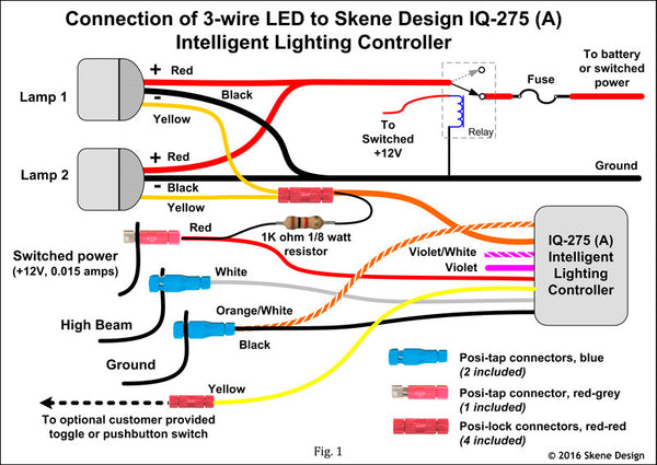Iq Wire Led Grande on motorcycle wiring diagram