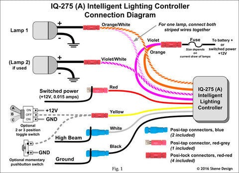IQ_275_Wiring_large?v=1456887070 iq 275 intelligent spotlight dimmer for daylight running lights daylight switch wiring diagram at crackthecode.co