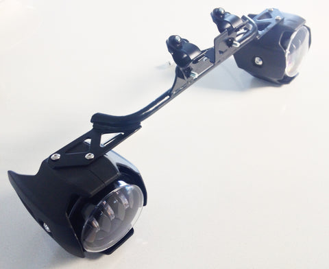 D2D Cree 30W LED Spotlight & Mounting Kit for the 2015-2017 Kawasaki Versys 650/1000 with the Skene IQ-275 Intelligent Controller (Pair)