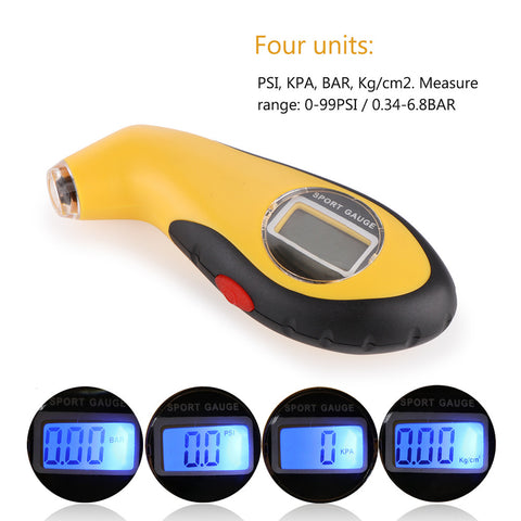 Mini Digital Tire Gauge With LCD Display Tire Pressure Tool