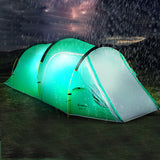 Two room 3-4 persons  double layer tunnel tent