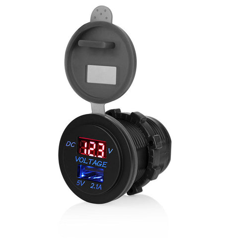 Motorcycle USB Waterproof DC 12V Dual USB Charger