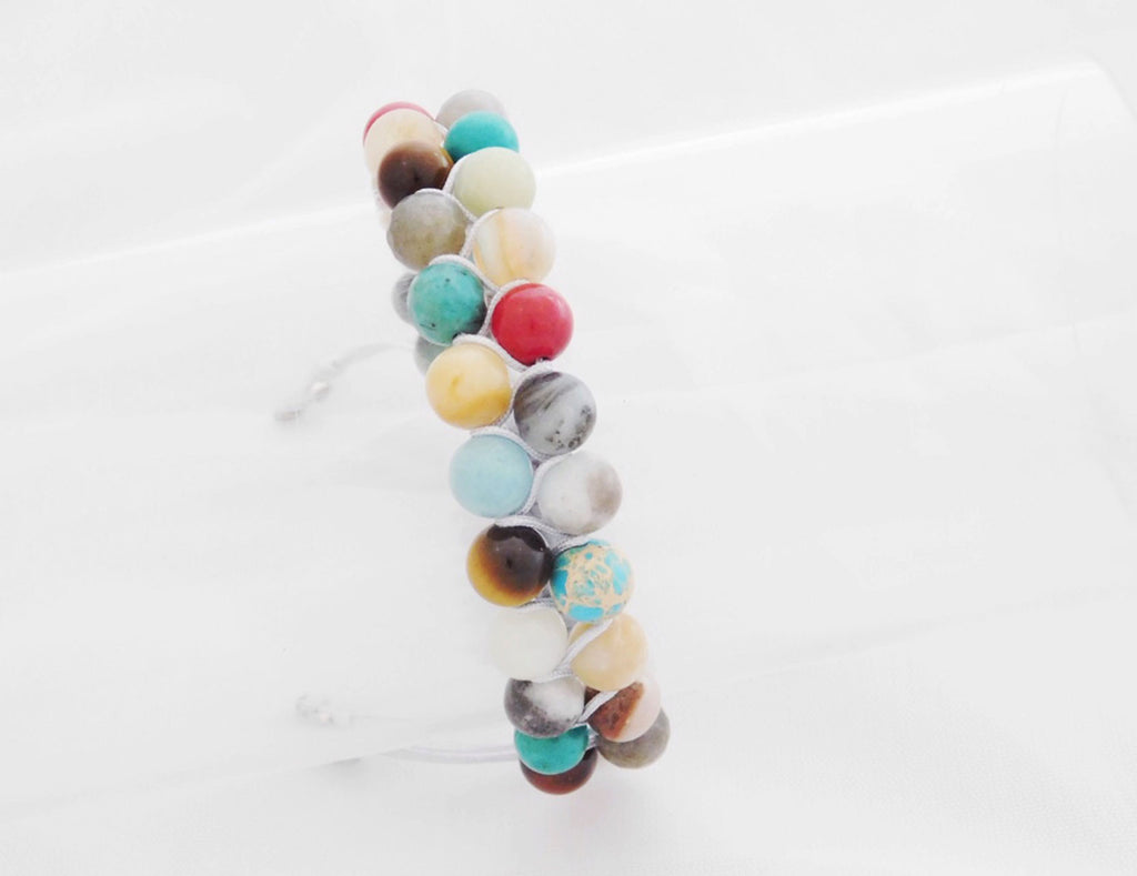 Double semi precious stones - Swizz Beads & Co Ltd