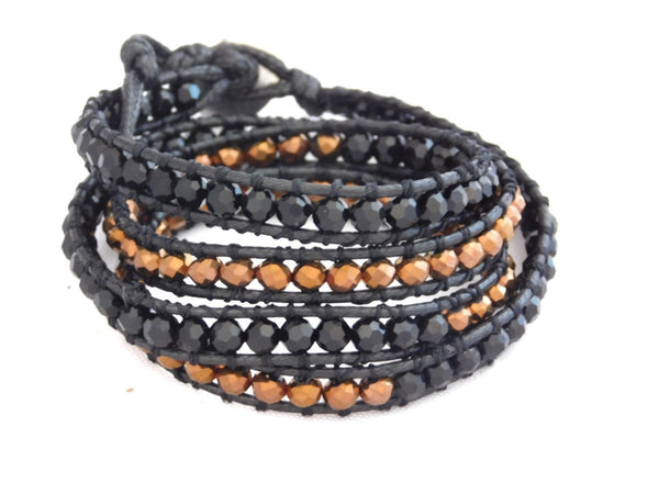 Wrap Bracelets Black & Copper