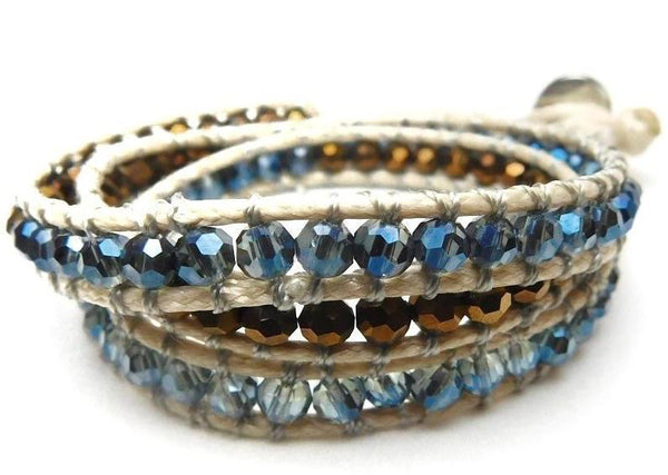 Wrap Bracelets Blue Copper
