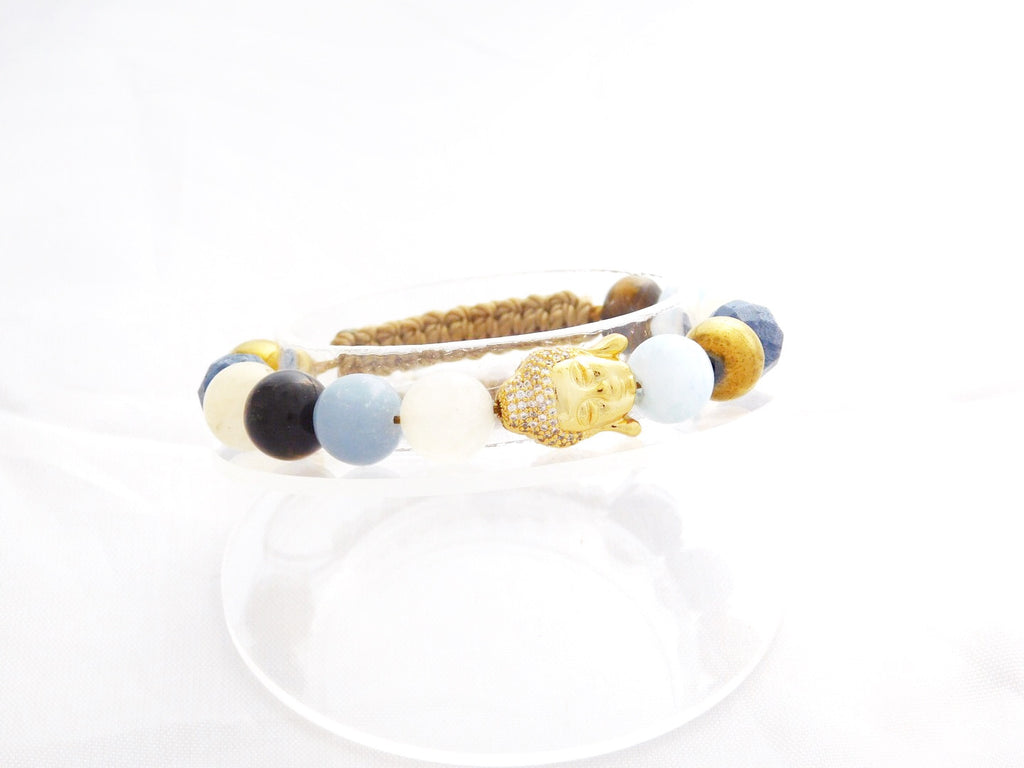 Beads for Her Mix Beads with Pave Buddha Gold Bracelet