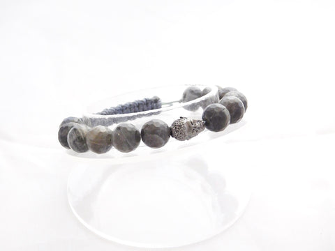 Labradorite with Dark Silver Buddha