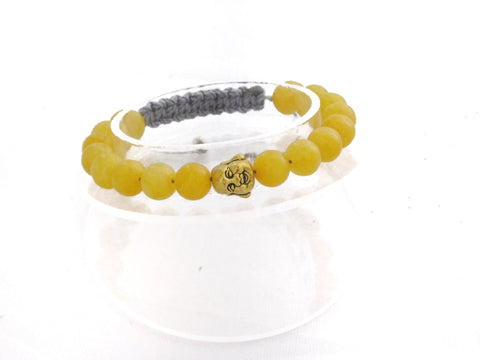 Yellow Agate with Laughing Buddha
