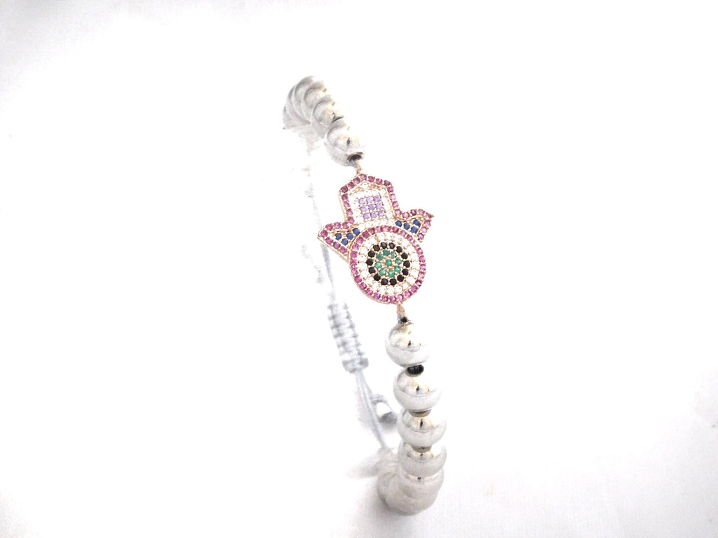 Pink & White Protection Hand Charm
