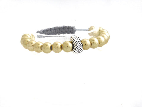 Gold Gunmetal With Pineapple Charm
