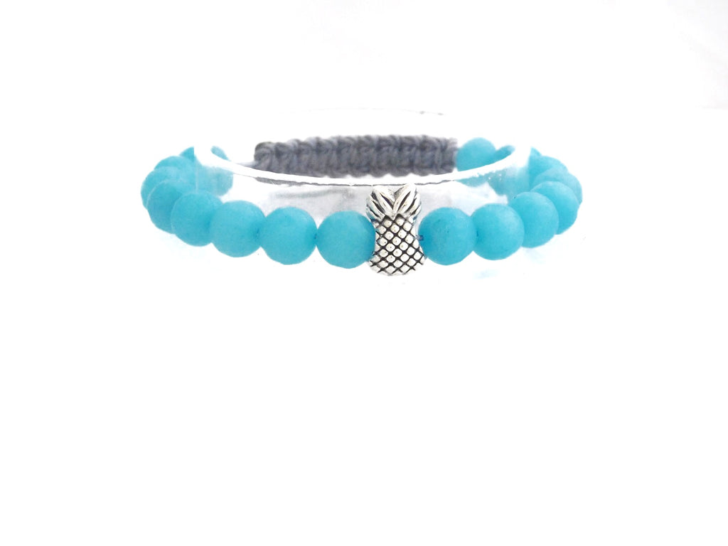 Turquoise Agate With Pineapple Charm