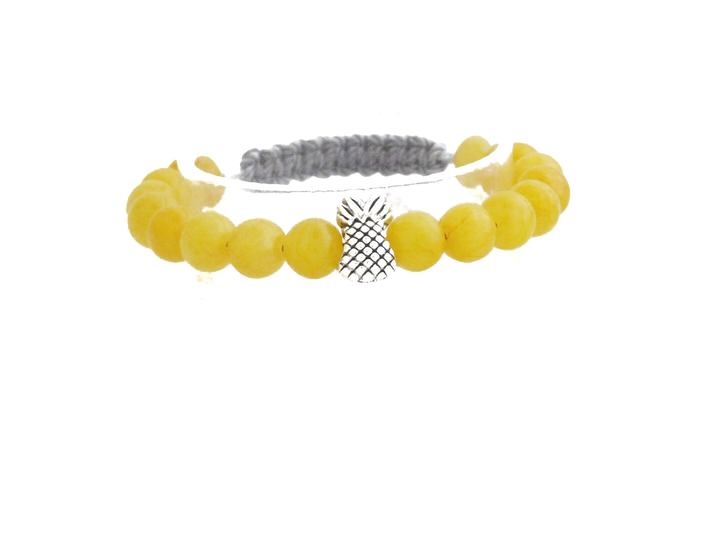 Yellow Agate With Pineapple Charm