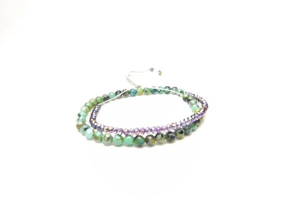Les Petites Wrap African Turquoise and purple Crystals