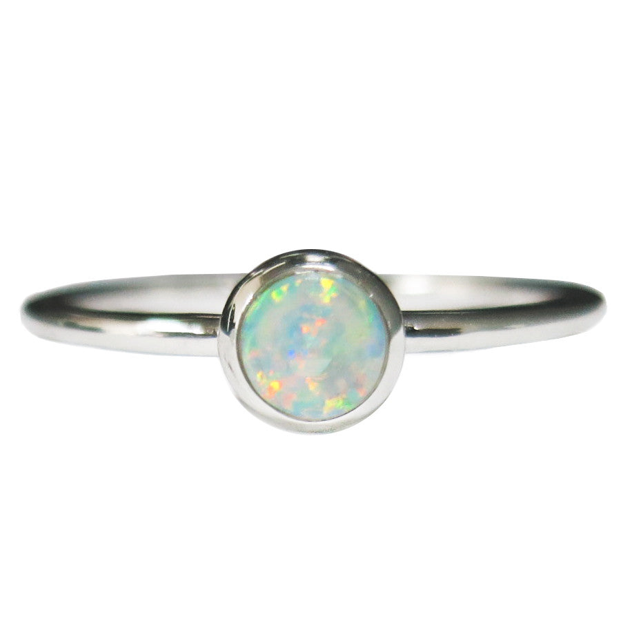 925 Silver Round Solid Stackable Ring By Opal Kingdom Australia