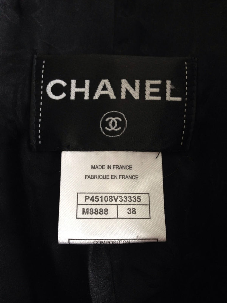 chanel tweed jacket size tag
