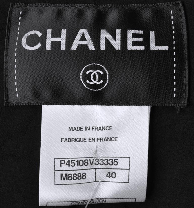 chanel jacket size tag tweed