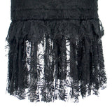 Chanel 06C black long lace dress with ruffle trim satin straps Like New F38 シャネル ブラック・レース・ワンピース - シャネル TC JAPAN