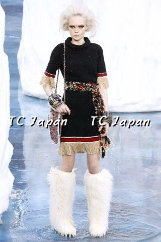 Chanel 10A Jessica Alba Namie Amuro Black Fringe Trim Dress 42 シャネル フリンジ・トリム・ワンピース - シャネル TC JAPAN