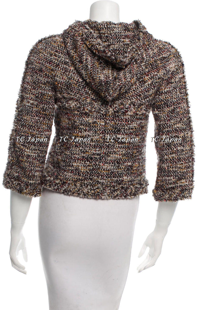 CHANEL 07A brown multi tweed jacket 36 シャネル ジャケット - シャネル TC JAPAN