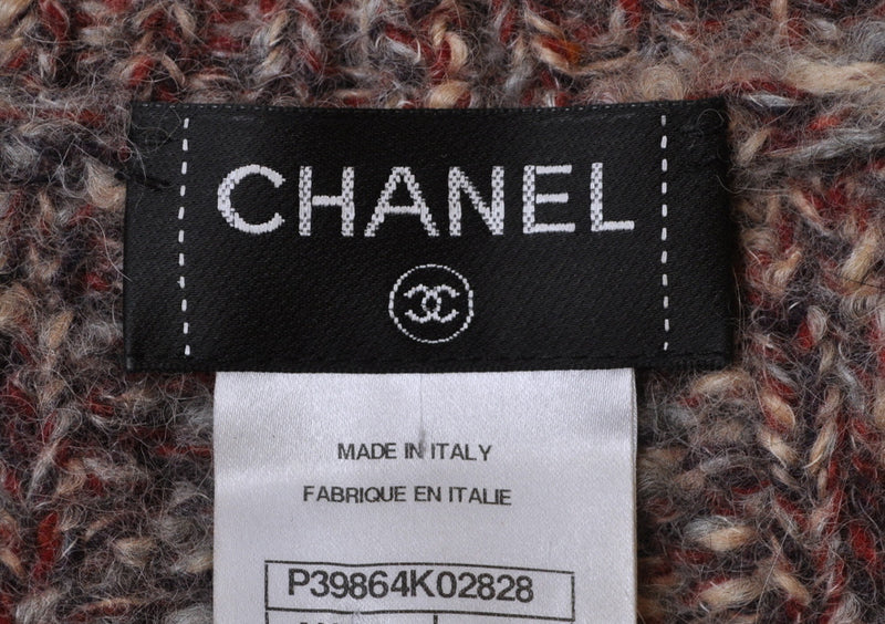 CHANEL 10A Beige Red Cashmere Sweater Dress 34 シャネル カシミア・ニット・ワンピース・セーター - CHANEL TC JAPAN
