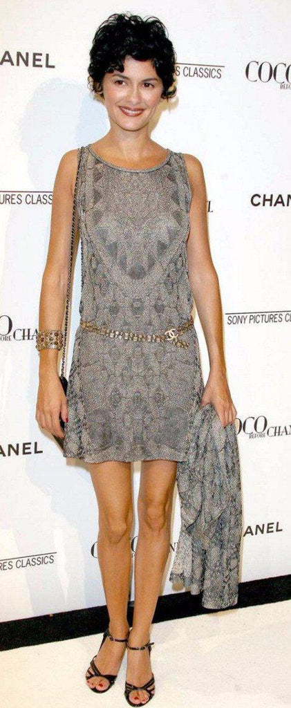 Chanel 10C gold sleeveless metallic dress with bateau neck 36 シャネル ワンピース - シャネル TC JAPAN
