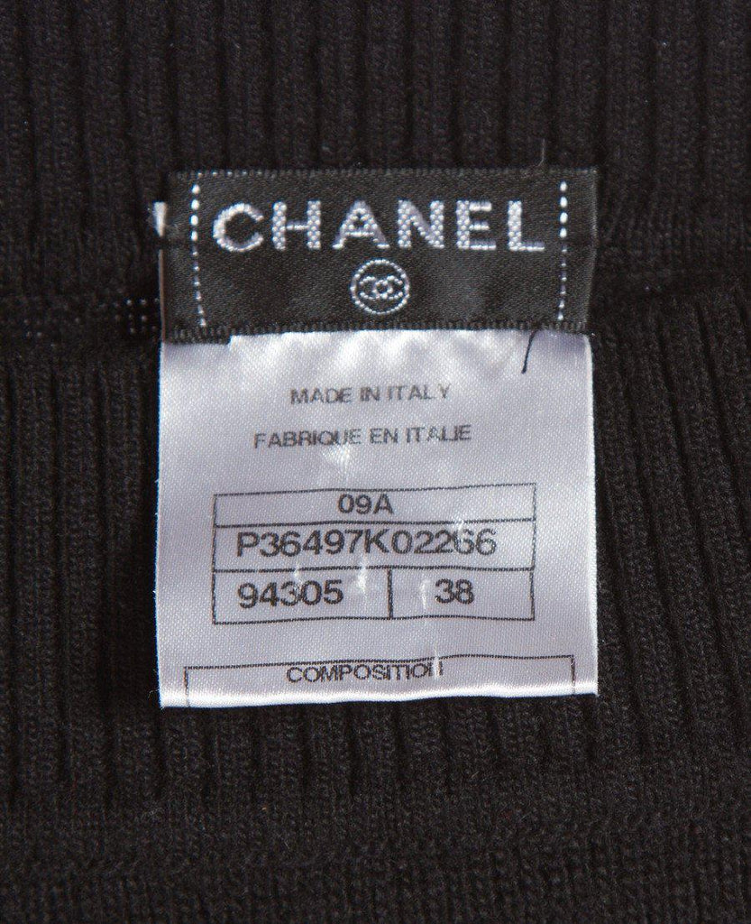 CHANEL 09A Black or Grey Belted Knit Wool Cashmere Dress 36 38 シャネル ウール・カシミア・ワンピース