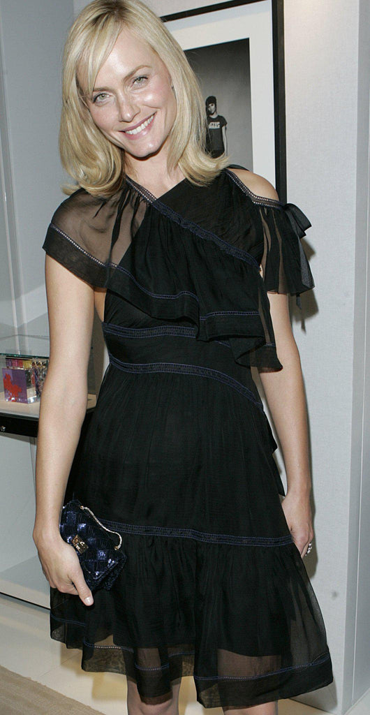 CHANEL 08C Party Black Silk Siffon 100% flared Dress Like new 38-40 シャネル ワンピース - シャネル TC JAPAN