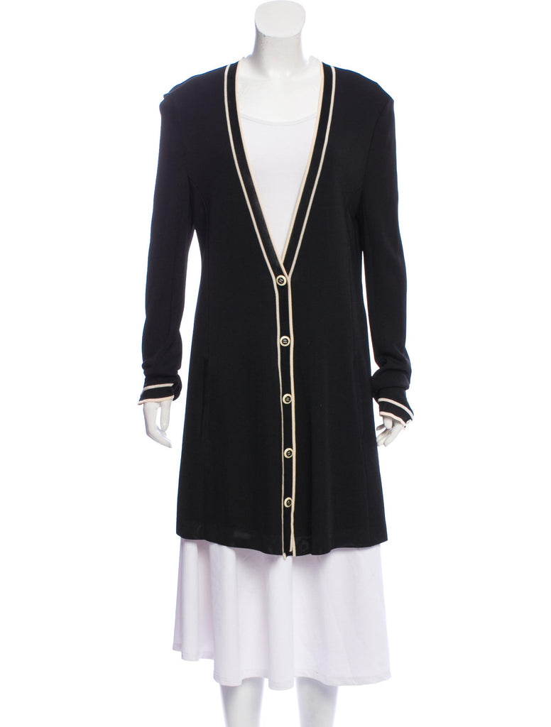 CHANEL 14C Beige or Red or Black or White or Navy Long Cardigan 40 シャネル ベージュ・レッド・ロング・カーディガン