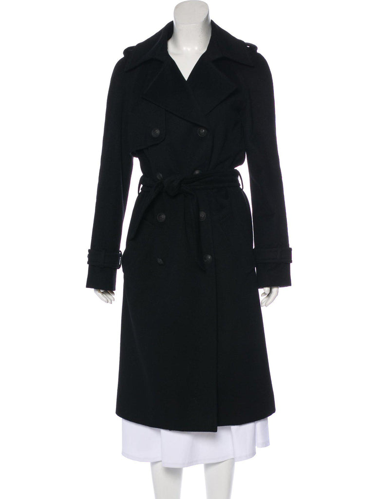 CHANEL 04A Black Cashmere 100% Double Breasted Coat 40 シャネル  ブラック・カシミア・コート 即発