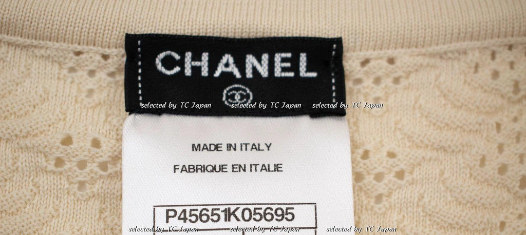 CHANEL 13S Black or Cream or Wine or White Cotton knit Dress 34 36 シャネル ニット・ワンピース 即発 - CHANEL TC JAPAN