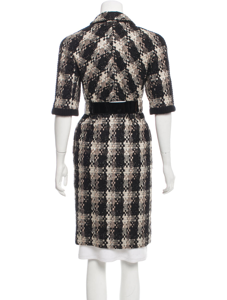 CHANEL 07A Sarah Michelle Gellar Black White Tweed Coat 42 シャネル ウール・女優 ツイード・コート - シャネル TC JAPAN