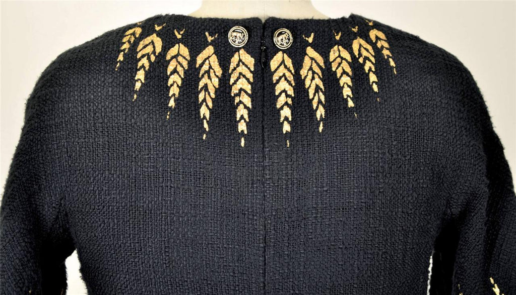 Bees Embroidered Wool Coat ジャケット